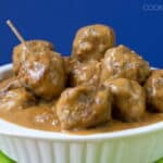 Swedish Meatballs - cooks up in a single pan in the oven, even the gravy!