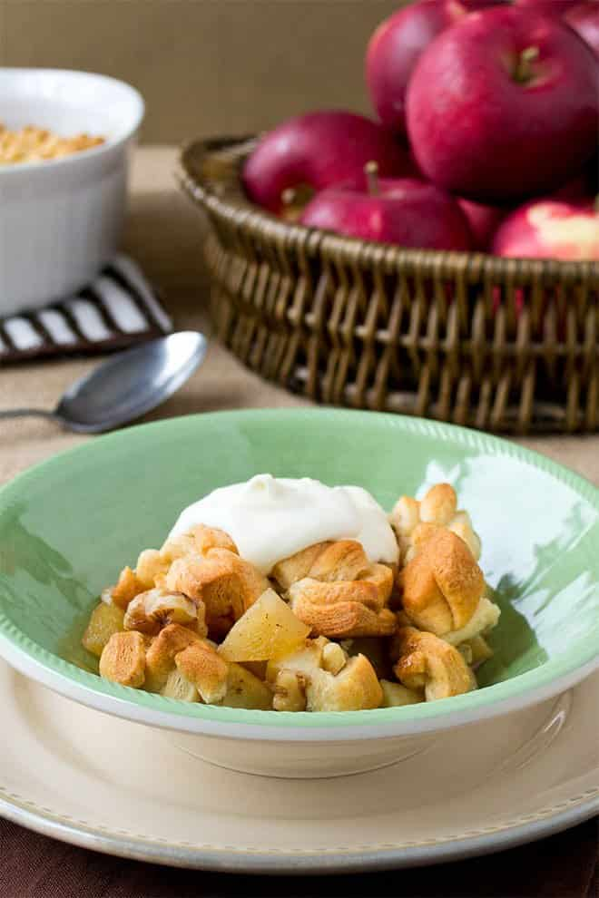 This apple cobbler recipe is as classic-tasting as they come, but it's got the easiest, tastiest topping ever.