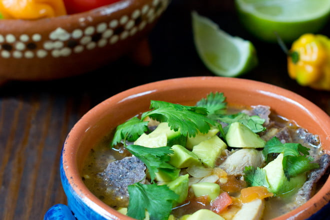 Sopa de Lima (Mexican Lime Soup) - This flavorful chicken and lime soup comes together in just 15 minutes, making it perfect for dinner tonight!