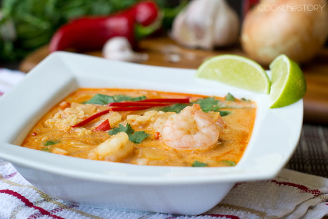 Shrimp in a Coconut Curry Soup