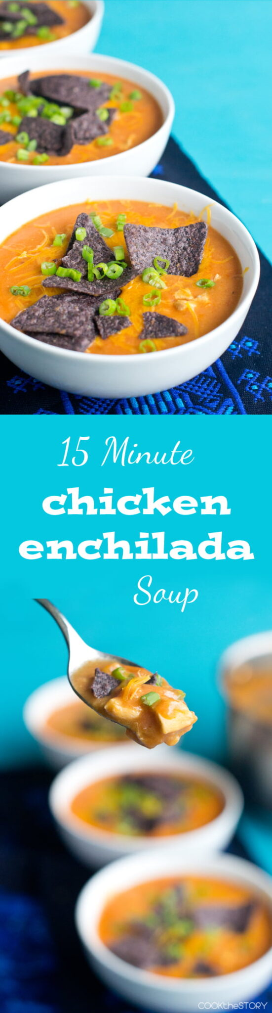15-Minute Chicken Enchilada Soup-- Just like the one at Chili's!
