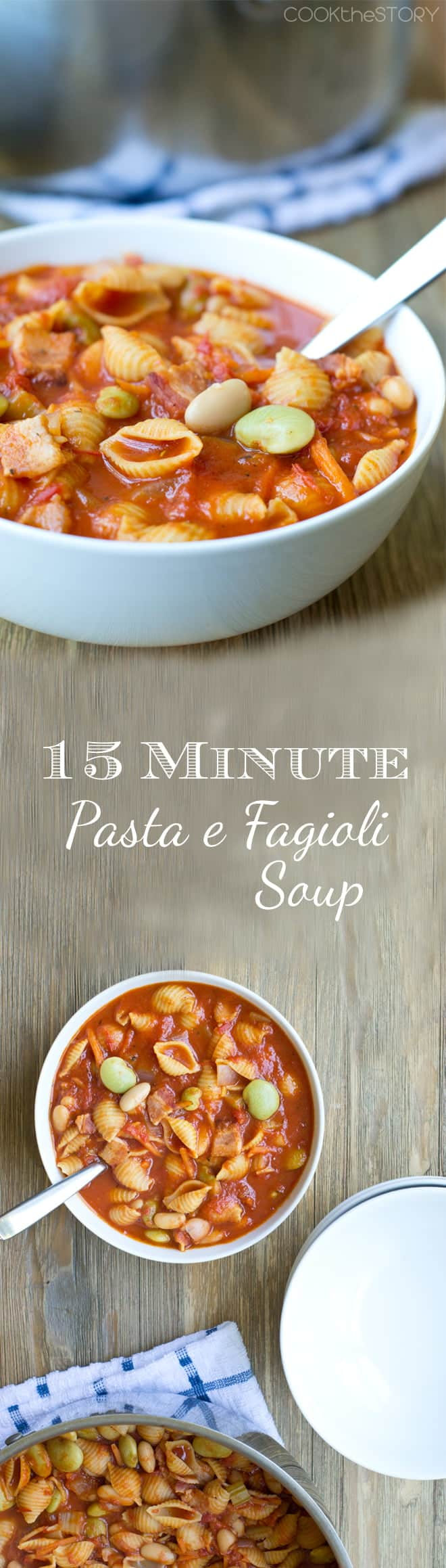 Delicious and Easy Pasta e Fagioli Soup just like The Olive Garden's in under 15 minutes