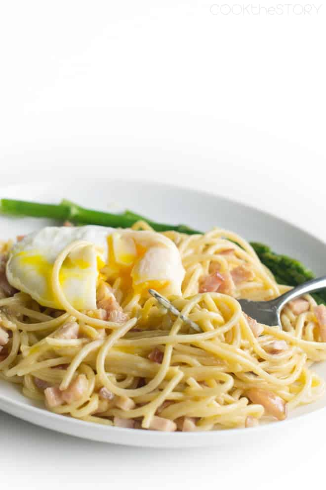 Spaghetti and Eggs Benedict