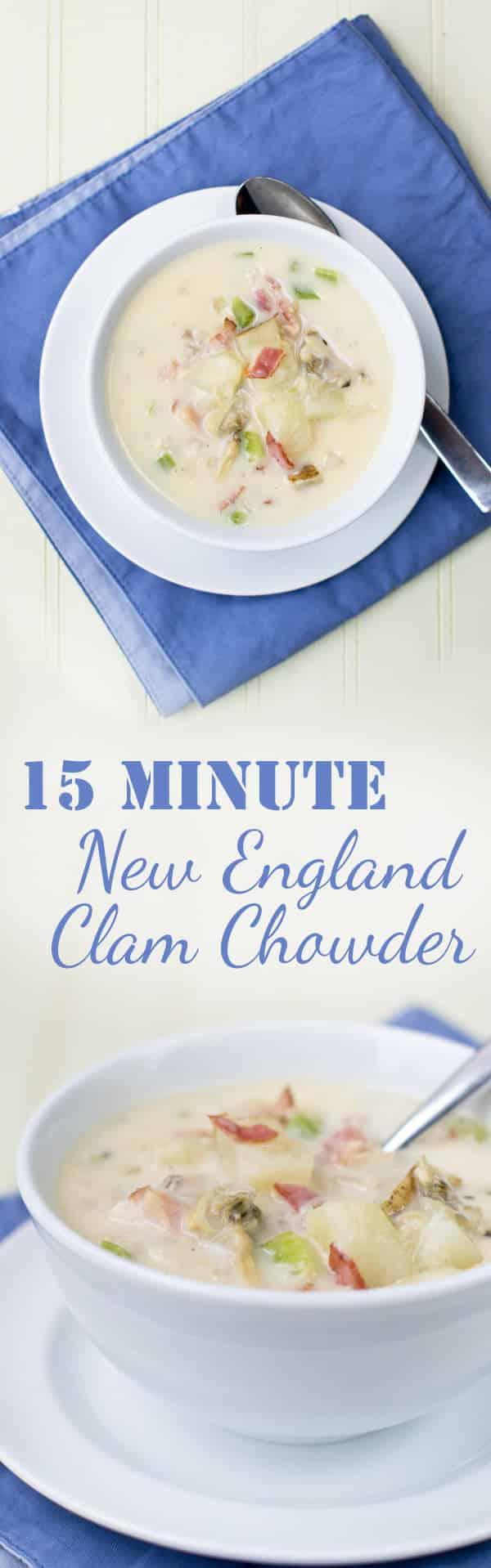15-Minute Homemade New England Clam Chowder