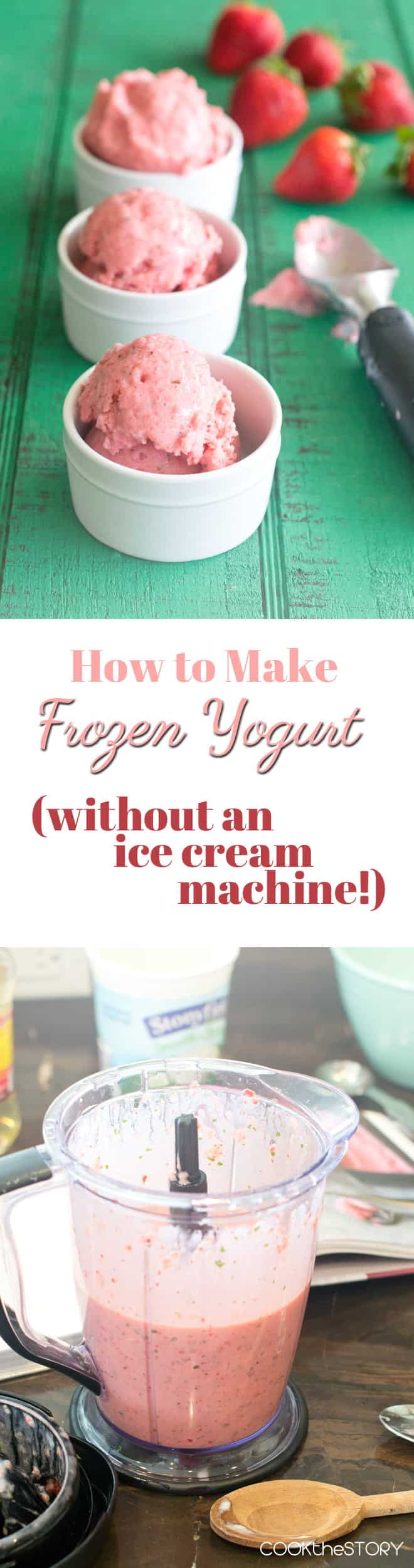 How to Make Frozen Yogurt Without an Ice Cream Maker (and Strawberry Basil Frozen Yogurt Recipe)