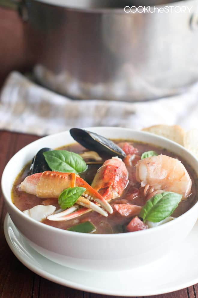 Grab a bib! Cioppino can be messy because the shellfish is served in the shell. The cod, mussels, shrimp, crab claws and wine make this rustic soup really special. And it's ready in 15 minutes.