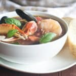 Quick, homemade Cioppino recipe, made in 15 minutes
