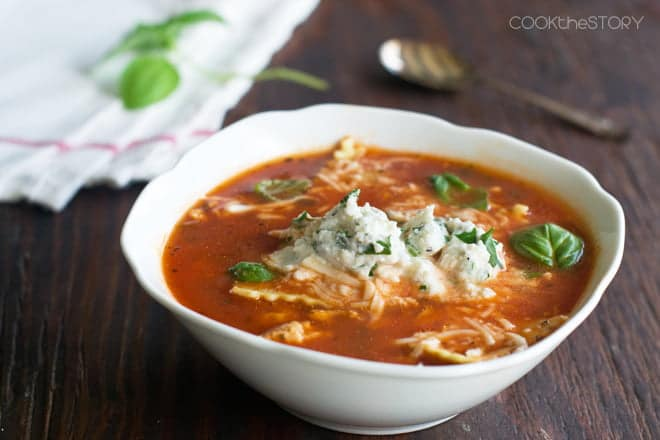 Lasagna Soup with Ground Turkey