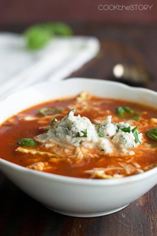 15-Minute Lasagna Soup
