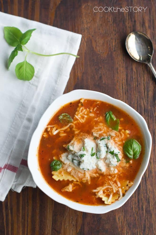 Quick Lasagna Soup