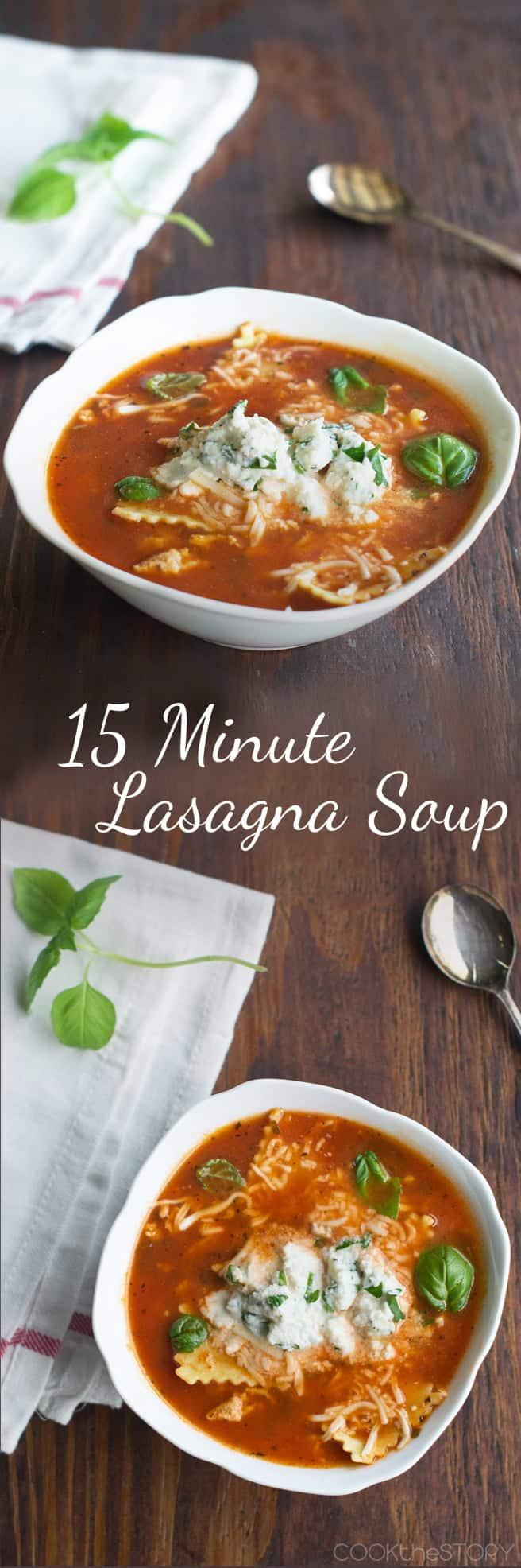 Lasagna Soup (Tastes Like Lasagna, But Ready In 15 Minutes!)