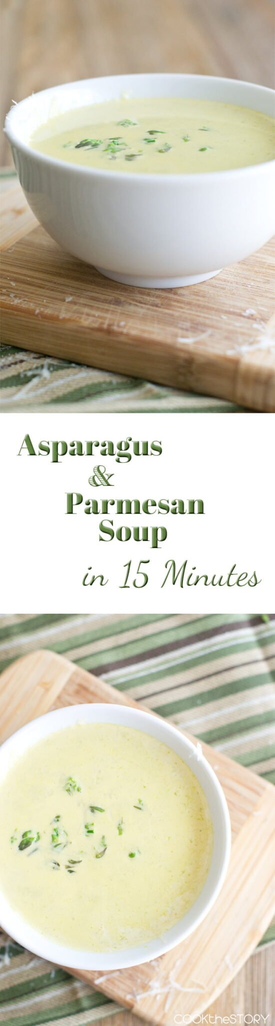 Cream of Asparagus Soup with Parmesan and Garlic