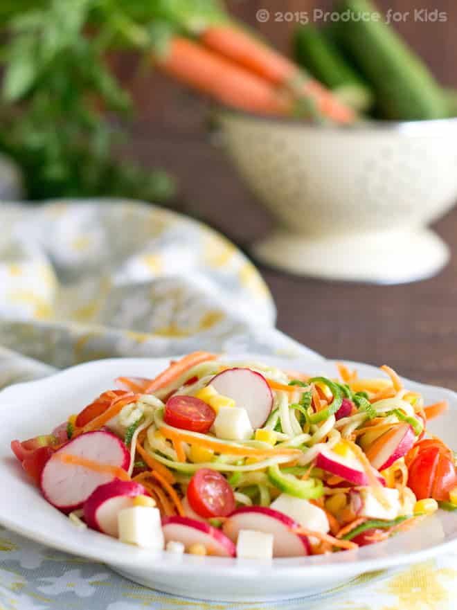Rainbow Zoodle Salad