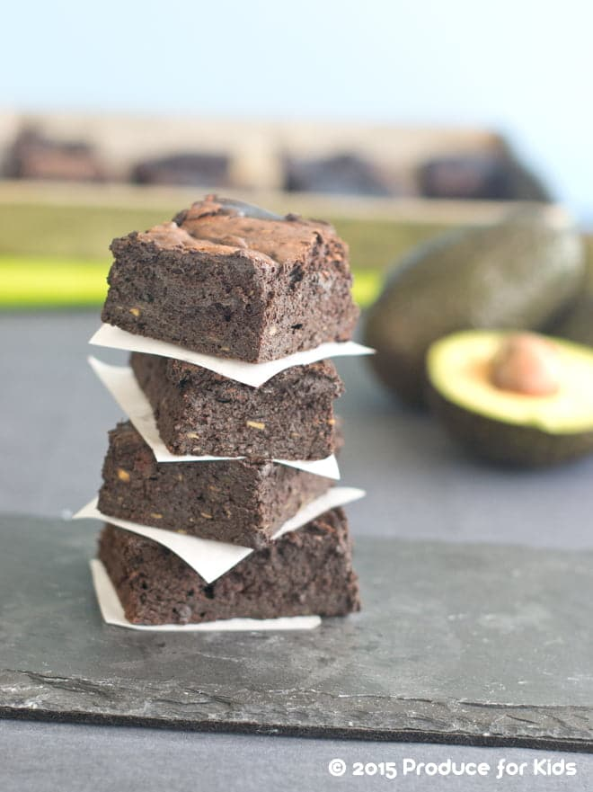 Healthy Chocolate Avocado Brownies Recipe - Fudgy, sweet, and a little bit of chewiness, these are the perfect snack or dessert!