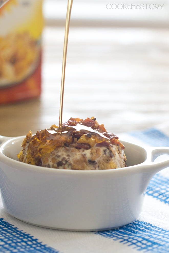 Cereal and Bacon Fried Ice Cream Balls