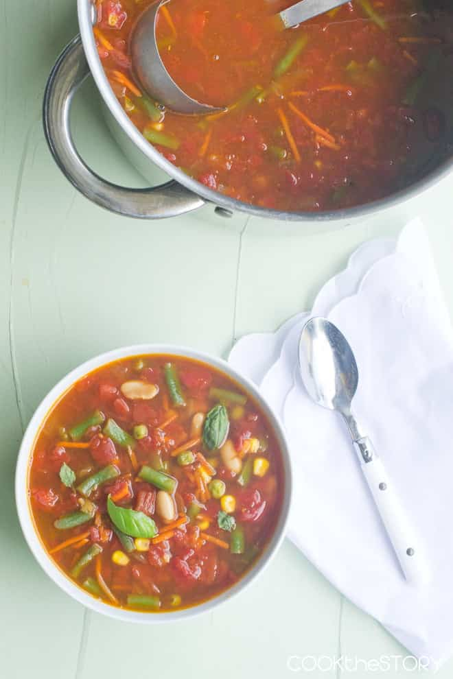 Vegetable Soup in 15 Minutes