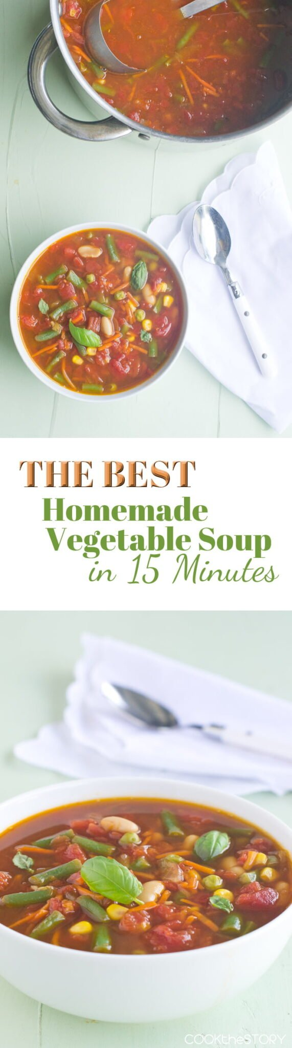 Easy Vegetable Soup in 15 Minutes