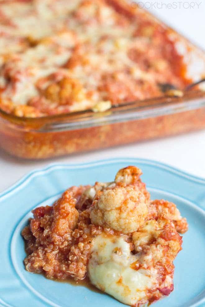 Italian Cauliflower Bake with Quinoa