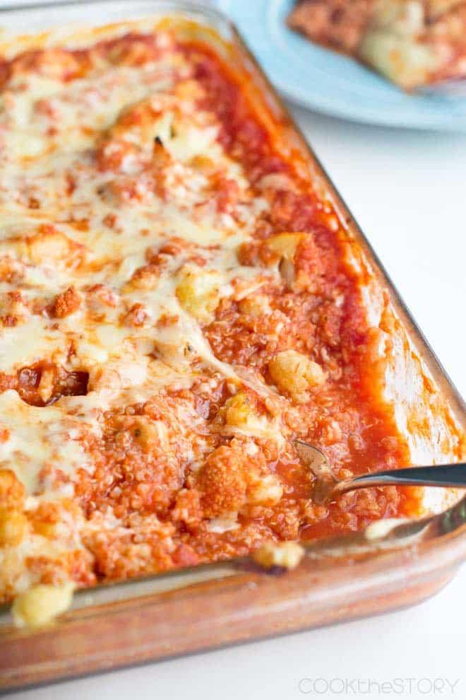Vegetarian Italian Cauliflower Bake with Quinoa