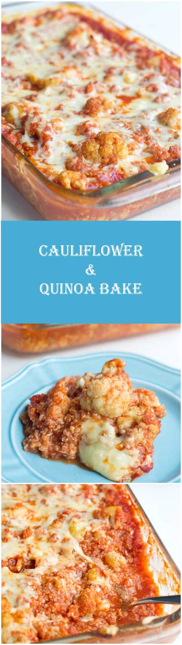 Italian Cauliflower and Quinoa Bake