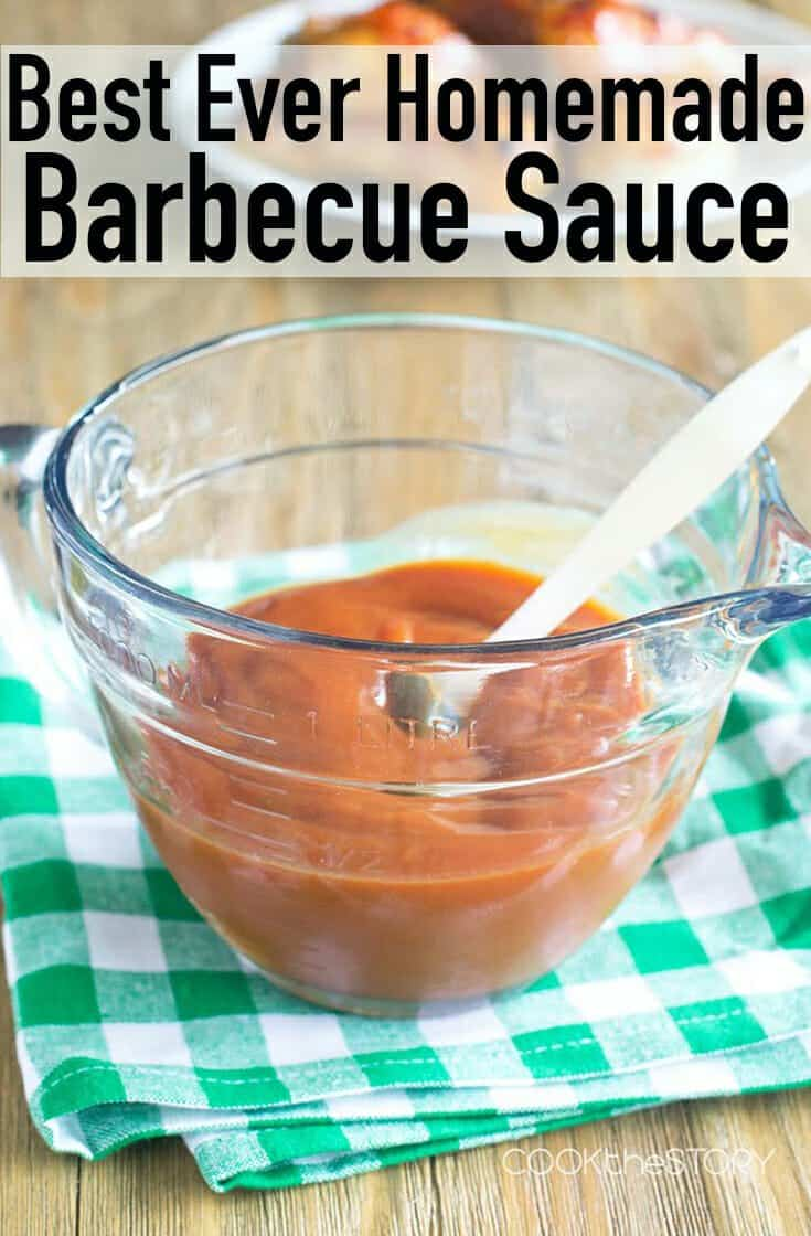 Do you have ketchup, mustard and honey? You have to try this best EVER Basic Homemade BBQ Sauce.  It's so simple, but so good. And it's going to save your life when you need some sauce and there's not a bottle of it to be found in your pantry. This could be used for pulled pork, for chicken or for whatever meat you want. It's so easy to make this from scratch. #homemade #bbq #barbecue #grill #recipe