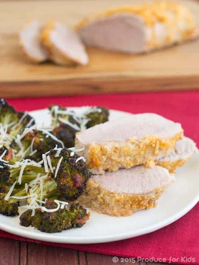 One Pan Pork Tenderloin with Italian Broccoli
