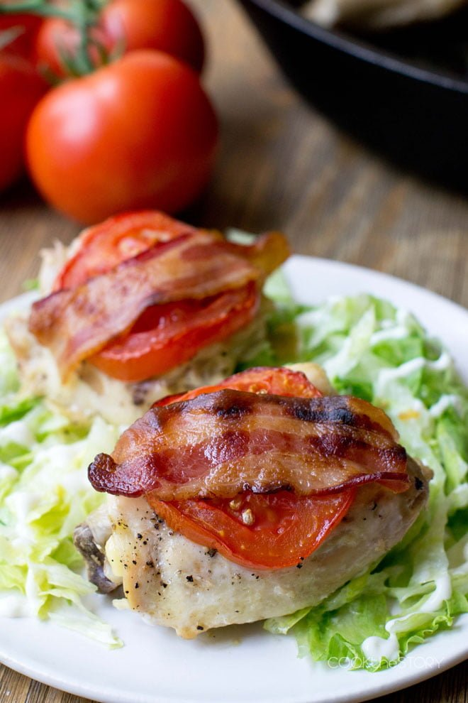 Roasted BLT Chicken Dinner