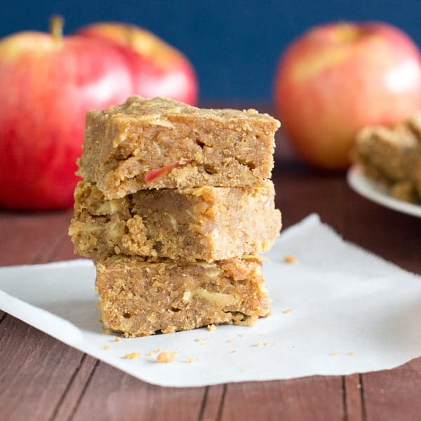 Apple and Peanut Butter Blondies