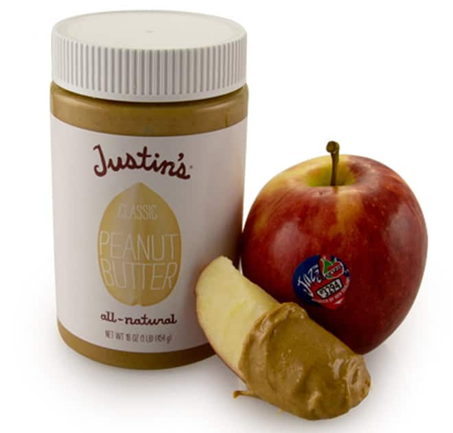Jazz apple with Justin's peanut butter