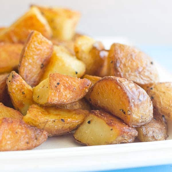 Roasted potatoes are an easy and delicious side dish