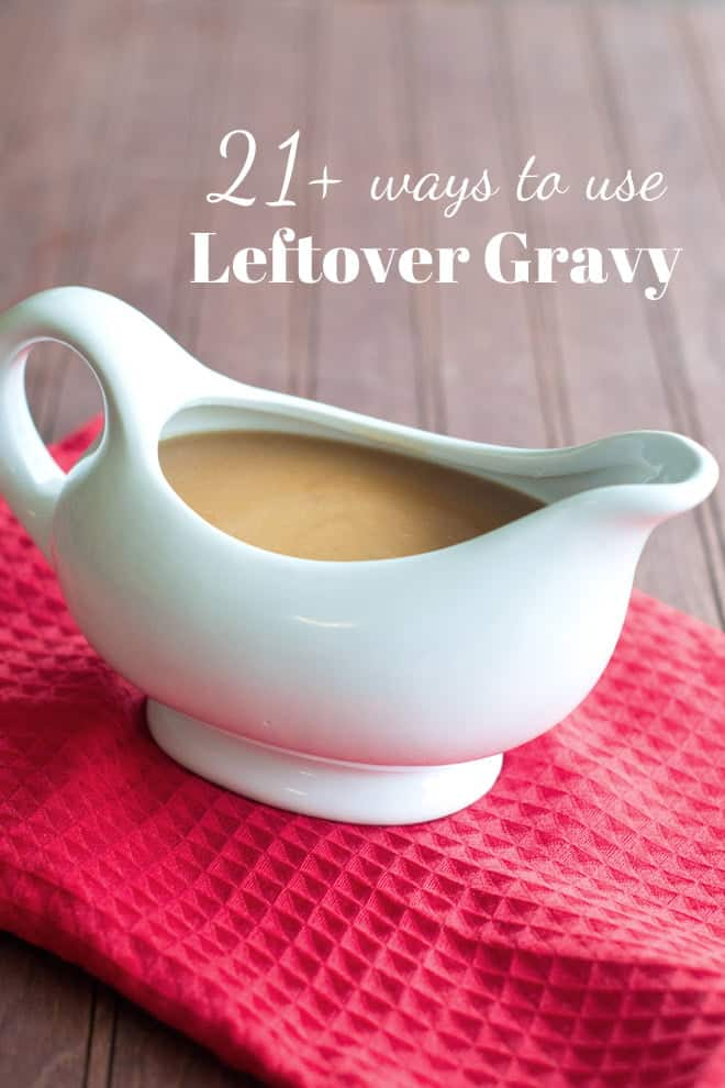 Have you got some gravy leftover? Don't throw it out? Here are a whole bunch of ways to use it. You're totally going to find something for dinner tonight!