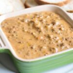 Easy Hamburger Dip that uses Real Cheese