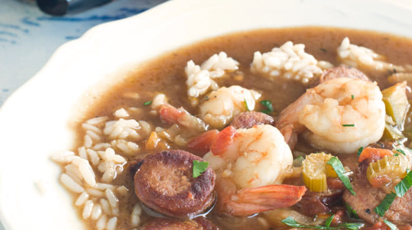 quick shrimp gumbo with andouille sausage cook the story