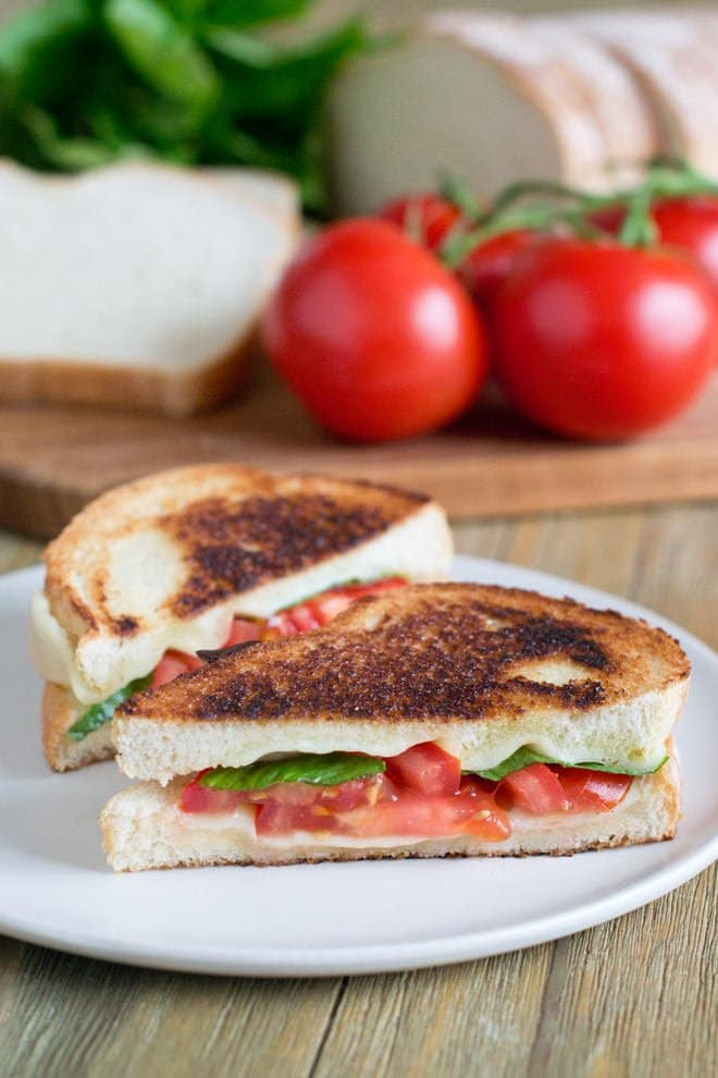 Dinner can be anything you want it to be. Today, I want it to be a delicious sandwich, like this Caprese Grilled Cheese.