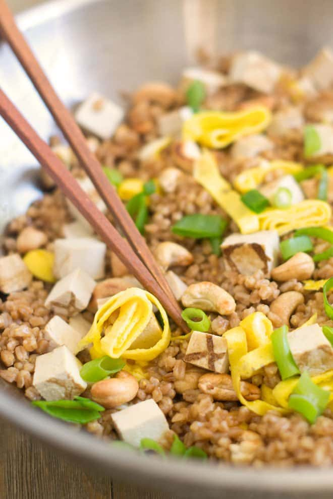 Special Fried Farro: Fried rice made with farro