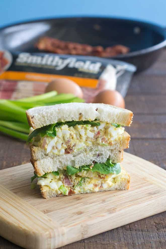 Egg Salad Sandwich with Bacon
