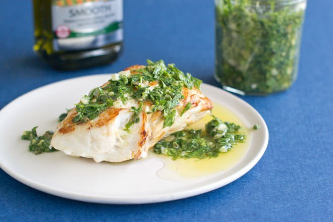 Italian Salsa Verde on Fish