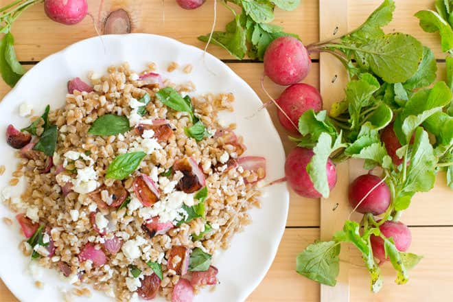 Farro and Roasted Radish Salad