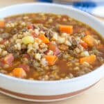 Beef and Farro Soup