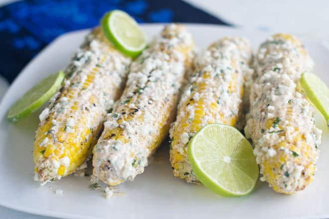 Grilled Mexican Corn on the Cob (Elote)