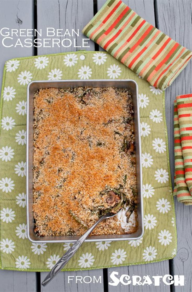 If you don\'t like using canned food, learn how to make Green Bean Casserole from scratch! It\'s easy and simple to do. #sidedish #thanksgiving #holidayrecipe #thanksgiving #easyrecipe #fromscratch