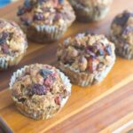Cranberry Stuffing in Muffin Tins