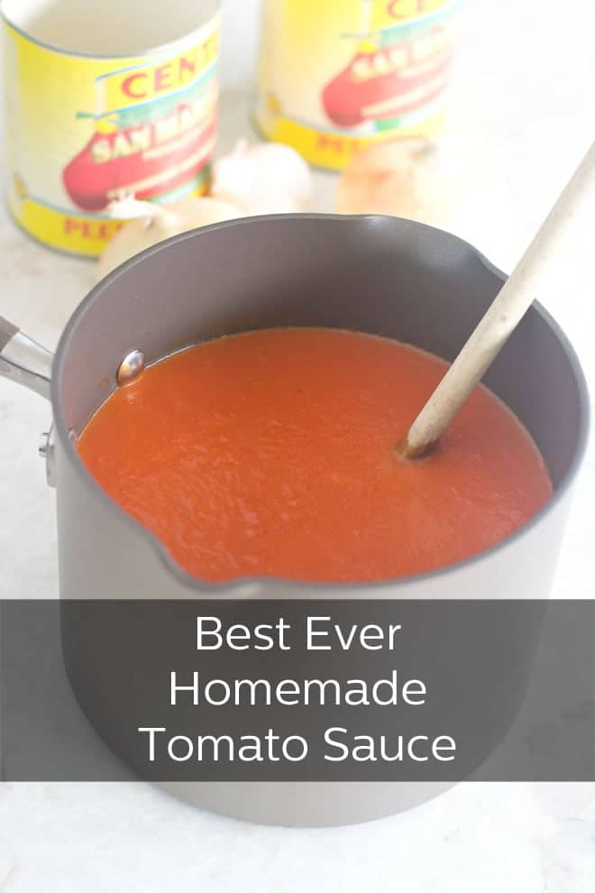 Best Ever Homemade Tomato Sauce