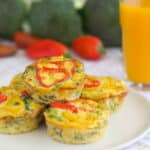 Don't fuss with a crust! Make these crustless quiches and then freeze them to have on hand for any busy morning. They're great for breakfast or even for the lunchbox.