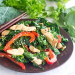 An amazing way to use that big bag of cut greens from your fridge - put them in a stir fry! It's a quick, delicious and healthy meal.