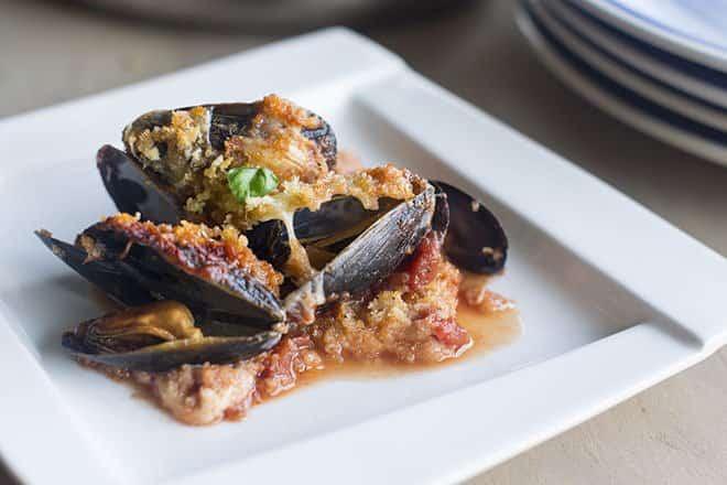 Mussels Parmesan