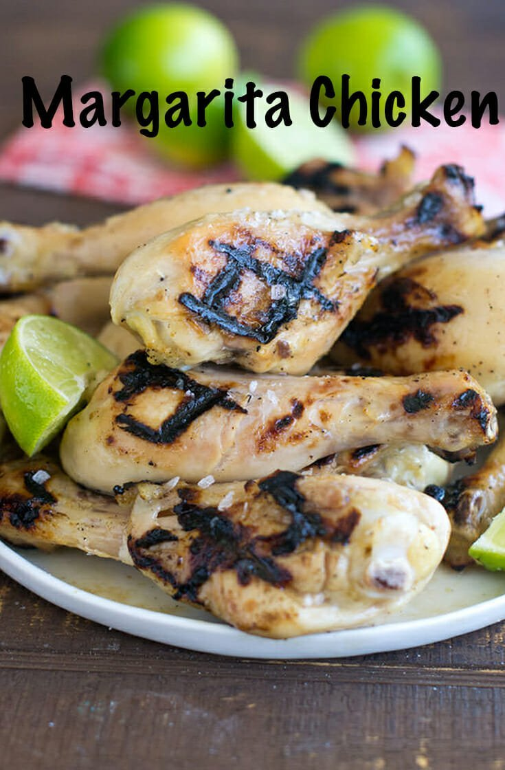 This delicious recipe for Margarita Grilled Chicken Legs has all your favorite margarita flavors. It\'s tender, juicy and tasty every time! It combines lime, agave, tequila, and salt for the perfect grilled chicken recipe for the summer. #chicken #healthy #healthydinner #healthyrecipe #margarita