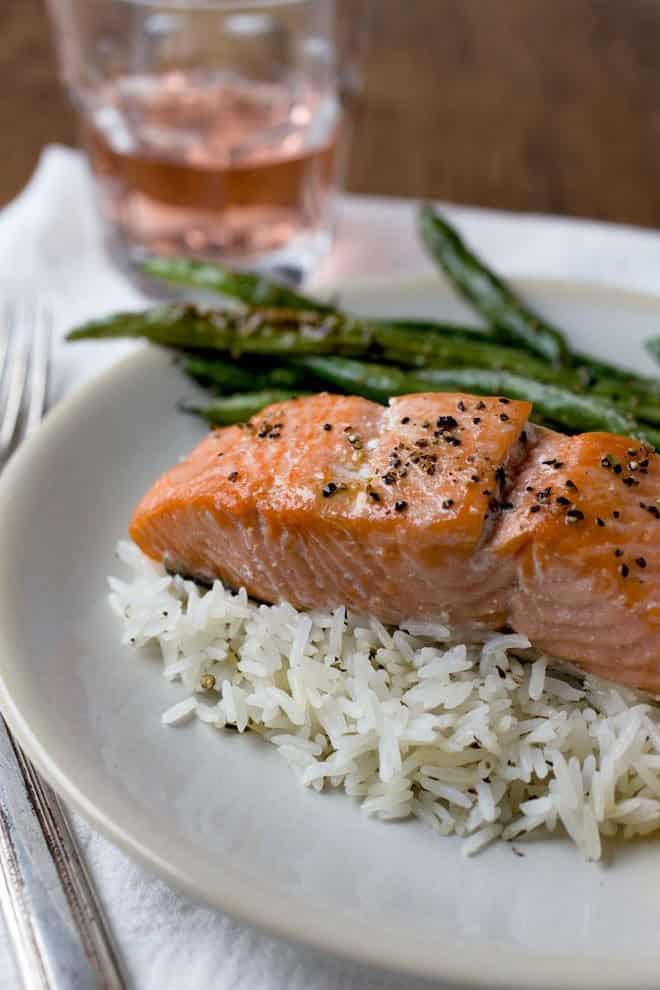 Best baked salmon dinner cook the story best salmon recipe a side of salmon is baked and then cut into portions ccuart Choice Image