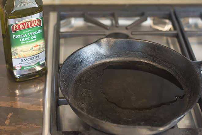 heating olive oil