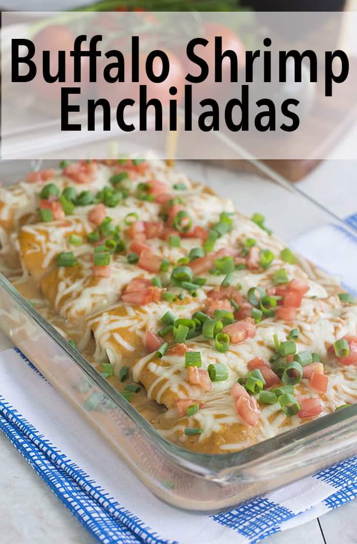 Enchiladas are seriously one of the most satisfying weeknight meals. These ones are extra delicious because they use breaded Buffalo shrimp as the filling. Learn how to make enchiladas and get this amazing recipe.